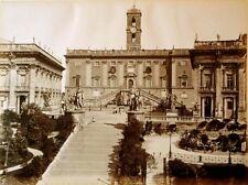 19th C Albumen The Campidoglio of Rome Italy 15x11