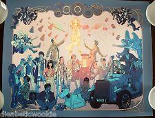 BBC Dr Who TARDIS 11th Matt Smith Amy Pond Sonic art print movie poster