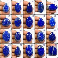 NATURAL BLUE LAPIS LAZULI CABOCHON WONDERFUL! LOOSE GEMSTONE FREE SHIPPING LP-D