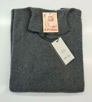 PULL TAILLE SWEATER FEMME WOMAN 100% PUR CASHMERE CACHEMIRE MALIKA REY GRIS