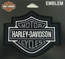 Harley Davidson Silver & Black Bar & Shield Emblem Motorcycle Vest EMB302543