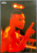 """MIKE TYSON-JAMES """"BUSTER"""" DOUGLAS ON SITE POSTER (1990-RARE RED VERSION)"""
