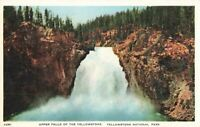 Postcard Upper Falls Yellowstone National Park Wyoming