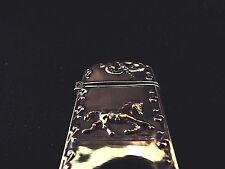 Sterling Silver 925 Gold Washed Match Safe Horse Equestrian Vesta