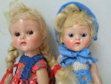 1950 - 1954 Vogue Ginny Dolls Painted Lash Strung & Walker in Vintage Clothes