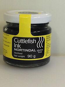 Sterilised Cuttlefish Ink - 1 90g Jar (Squid Ink) Gluten Free - Nortindal