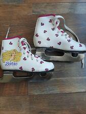 Vintage 1988 Barbie Girls Ice Skates White & Pink Size 10