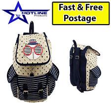 Women's Ladies Baby Backpack Shoulder Rucksack School Travel Canvas Bags Satchel