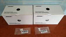 Bose Jewel Cube Series II Satellite Speaker in WHITE x2 + Bose AC-2 Adapter x2