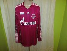 "FC Schalke 04 Adidas Langarm Spieler Version Trikot 2011/12 ""GAZPROM"" Gr.L"