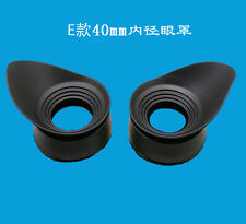 2PCS Inner 40MM Rubber Eye cups Guard for Olympus Microscope Telescope Eyepiece