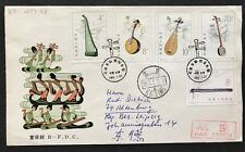 China to Germany  T81 Folk instruments fdc cover 1983