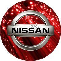 Nissan CAR LOGO 7 INCH EDIBLE IMAGE CAKE & CUPCAKE TOPPERS.