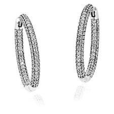 Ladies Hoop Earrings Silver Rhodium-Plated 49-787234