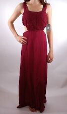 2014 NWT WOMENS ELEMENT LILLY DRESS $55 M burgundy red maroon long maxi