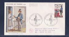 enveloppe 1er jour  journée du timbre  Paris  voyagée   1970