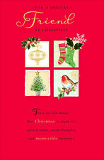 For A Special Friend Traditional Christmas Greeting Card Lovely Verse Xmas Cards