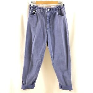 Lee Womens Vintage Mom Jeans Tapered High Waist Elastic Purple Size 12 30x30