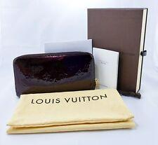 Auth Louis Vuitton Monogram Bifold Zippy Wallet Clutch Vernis Amarante CA0190