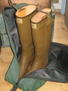 VINTAGE MENS LE CHAMEAU WELLINGTON BOOTS SIZE 41 42 LEATHER LINED COUNTRY SPORTS