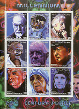 Somalia 2000 MNH 20th Century Churchill Gandhi Einstein Mao Freud 9v M/S Stamps