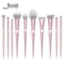 Jessup Makeup Brushes Set Pencil Blending Powder Blush Contour Foundation Pink