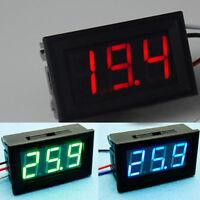 DC 0-30V 3 Colors LED Panel Voltage Meter 3-Digital Display Voltmeter 3 Wires