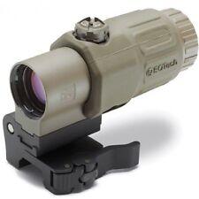 Magnifier Scope Optic 3X G33 Airsoft Softair weaver flip with logo Eotech Tan