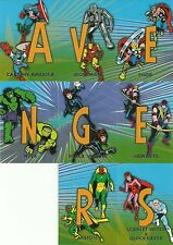 2015 Upper Deck Avengers Age Of Ultron Connections Silver Age 8 Card Insert Set