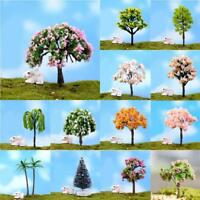 3 Miniatur-Sakura-Baum Pflanze Fee Gardenccessorie Ornament Puppenhaus Dekor