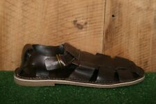 COLE HAAN 'Ginsberg' Chestnut Brown Leather Fisherman Sandals Men's Sz. 9.5 M