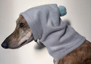 Whippet pom pom hat  dog snood