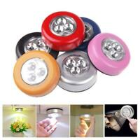 3 LED Touch Night Light Home Kitchen Under Cabinet Closet Push Stick On Lamp