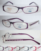 L329 High Quality Womens Reading Glasses & Diamante Sparkling Arms Super Fashion