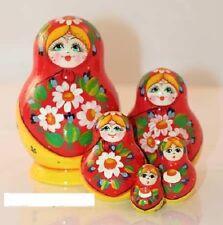 Russian Nesting Dolls Matryoshka 5 Pcs Daisies New