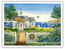 The Captain's Seaside Cottage - Robin Wethe Altman Watercolor Painting Print