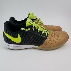 Nike Lunar Gato II US 11.5 Men's Indoor Soccer Shoe 580456-270 Balsa Black Volt
