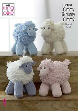 KINGCOLE 9108 Funny Yummy Sheep KNITTING PATTERN-Not the finished toys