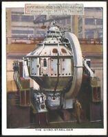 Sperry Ship Gyro-Stabilizer Ocean Craft c80 Y/O Trade Ad Card