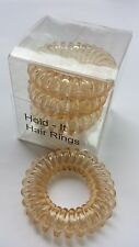 Hold It Hair Rings Spiral Stretchy Bobbles Hair Bands 3x3.5cm Blonde