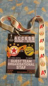 UEFA EL 2020/21 - PFC CSKA Sofia Bulgarien - BATE Borisov - OFFIZIELLER PASS