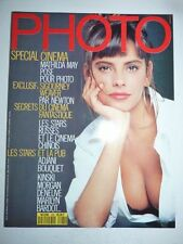 PHOTO FRENCH MAGAZINE #260 mai 1989 Mathilda May pose