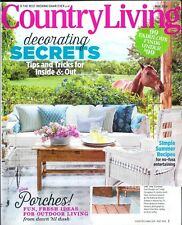 COUNTRY LIVING MAGAZINE MAY 2016 ISSUE DECORATING SECRETS/SUMMER RECIPES/PORCHES