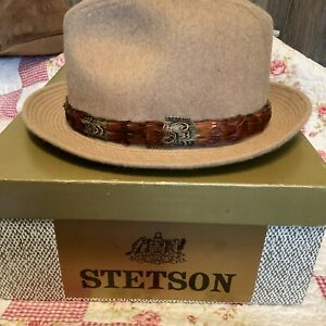 CLASSY CAMEL HAIR AND WOOL STETSON HAT SIZE 7