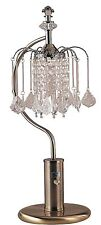 """New 27"""" Antique Brass Faux Crystal Decor Table Desk Lamp - 715ab"""