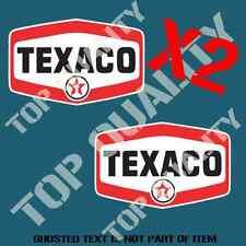 VINTAGE TEXACO GASOLINE OIL Decal Sticker X2 Vintage Mancave Garage Stickers