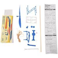 Rubber Band Elastic Powered Flying Glider Plane Airplane Model DIY For Kids K6N6