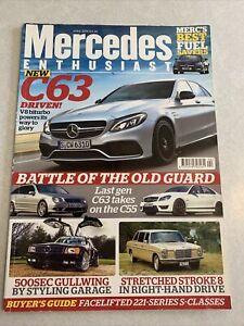 Mercedes Enthusiast. April 2015. C63 AMG. Stroke 8 Stretch. 500sec Gullwing