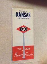 **Rare** 1951 D-X KANSAS Road Map
