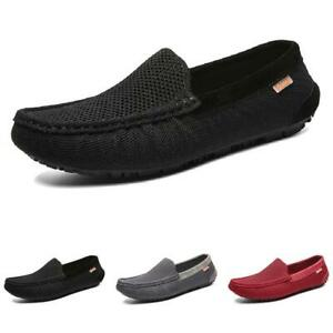Mens Mesh Breathable Loafers Shoes Slip on Pumps Driving Moccasins Walking New L
